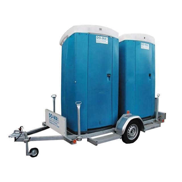Toiletkabine med tank – dobbel