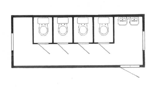 Køkken/Bad modul 9 x 3 mtr.