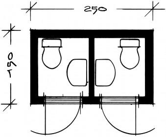 Dobbelt-Toiletvogn