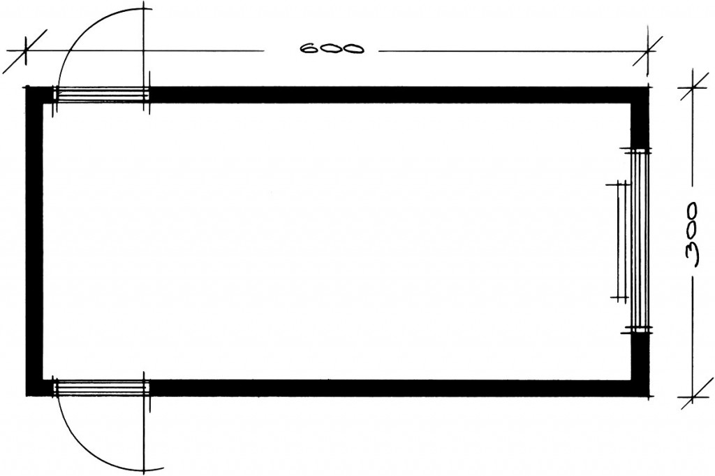 Stregtegning_beboelses-modul