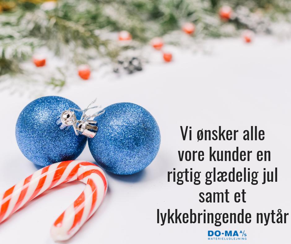 Vi ønsker alle vore kunder en rigtig glædelig jul samt et lykkebringende nytår_web