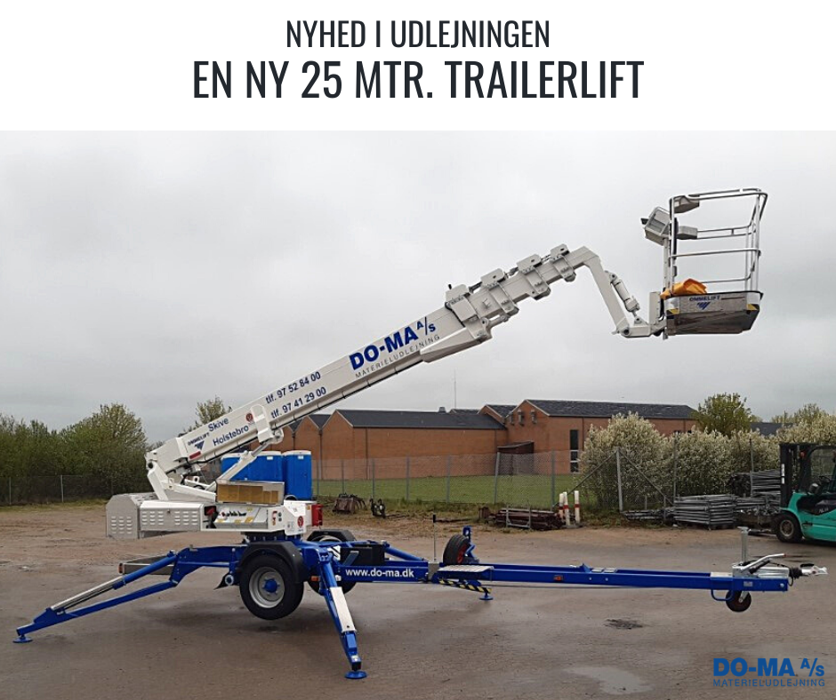 Nyhed 25 mtr. trailerlift